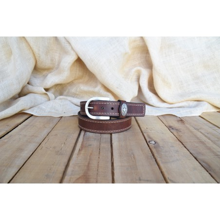 Sycamore Belt - Genuine Bison Leather Brown Unisex - Lejon