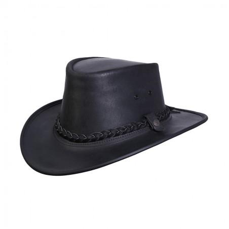 Chapeau Australien - Bac Pac Traveller Cuir Vachette Huilé Unisexe - BC Hats