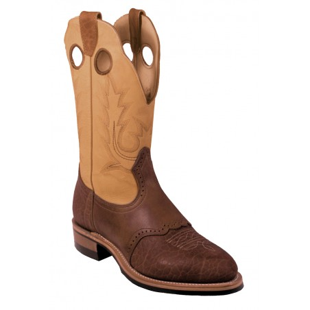 Roper Boots - Cowhide Brown Round Toe Men - Boulet Boots