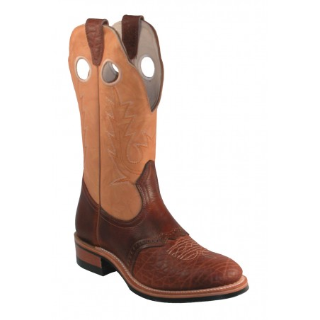 Roper Boots - Cowhide Brown Round Toe Women - Boulet Boots