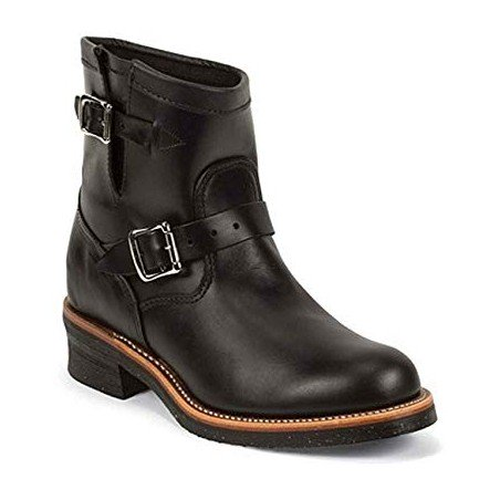 Motorcycle Low Boots - Cowhide Round Toe Vibram Sole - Chippewa Boots