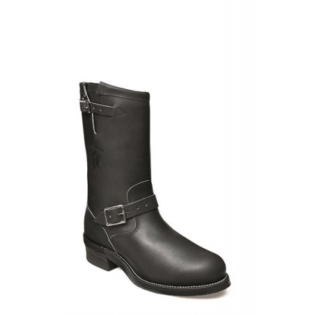 Motorcycle Boots - Cowhide Black Round Steel Toe -Chippewa Boots