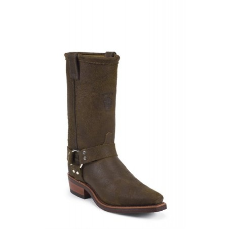 Motorcycle Boots - Cowhide Aged Brown Snip Toe Men - Chippewa Boots