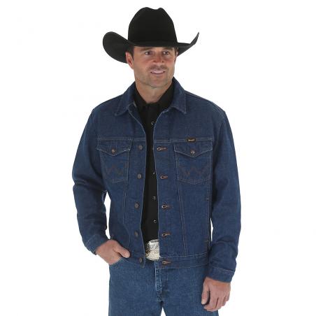 Denim Jacket - Cotton Blue Cowboy Cut Unlined Men - Wrangler