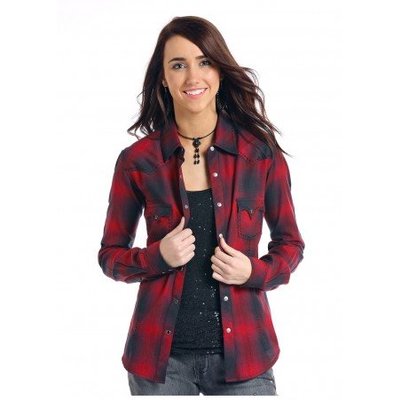 Flannel Shirt - Red Plaid Women - Panhandle