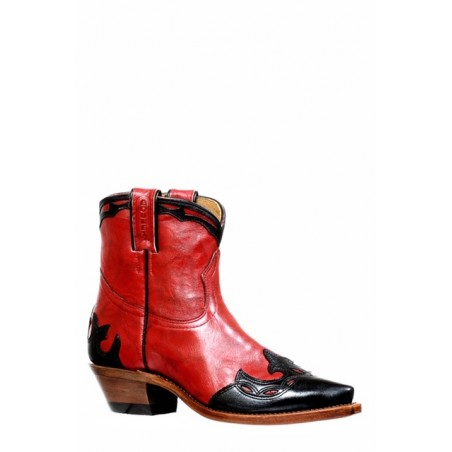 Low Boots - Cowhide Red Snip Toe Women - Boulet Boots