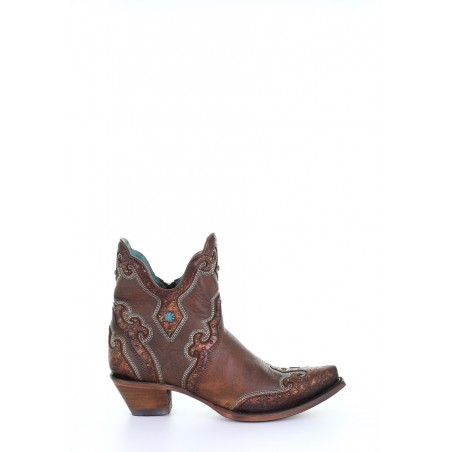 Urban Low Boots - Goat Leather Brown Snip Toe - Corral Boots