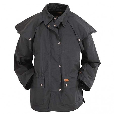 Bush Ranger Jacket - Cotton Oilskin Unisex - Outback