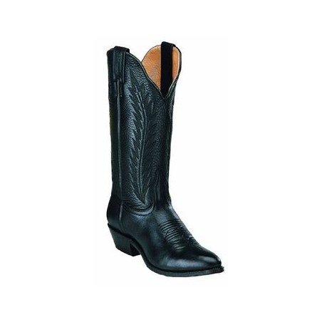 Cowgirl Boots - Cowhide Classic Black Round Toe Women - Boulet Boots