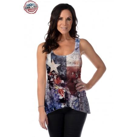 Tank Top - Texas Flag Women - Liberty Wear