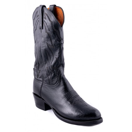 Cowboy Boots - Lamb Leather Black Snip Toe Men - Lucchese Boots