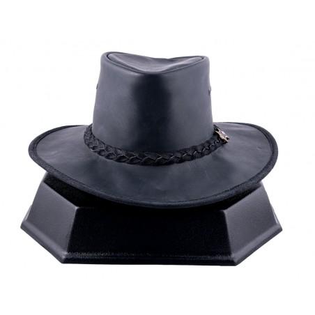 Chapeau Australien - Hat'n The Pouch Cuir Vachette Huilé Unisexe - BC Hats