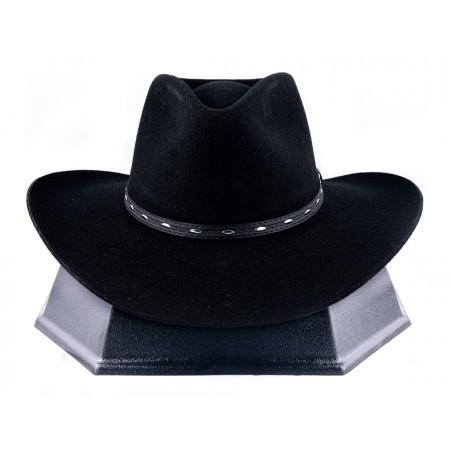 Cowboy Hat - Briscoe Fur Felt 3x Black Unisex - Resistol Hats