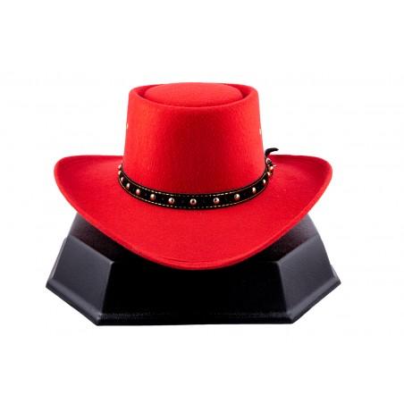 Chapeau de cowboy - Gambler Faux Feutre Unisexe - Western Express