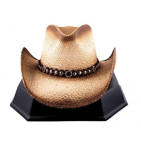 Cowboy Hat - Windstorm Handmade Straw Natural Unisex - Austin Hats