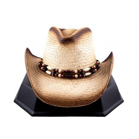 Cowboy Hat - Sea Shell Handmade Straw Natural Unisex - Austin Hats