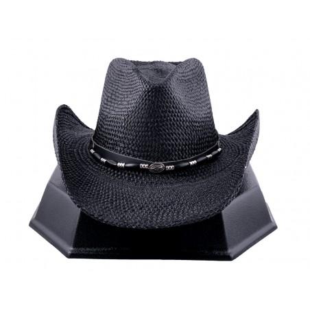 Cowboy Hat - Back In Black Handmade Straw Black Unisex - Austin Hats