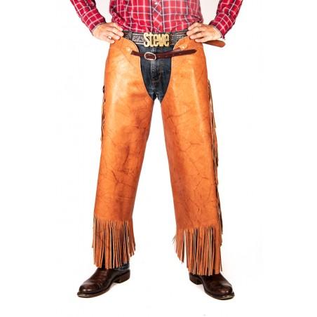Chinks - Cowhide Brown Plain Conchos Unisex - K Bar J Leather