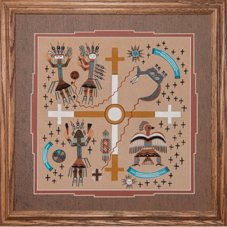 Sandpainting - 4 Cardinal Points - Native American Art