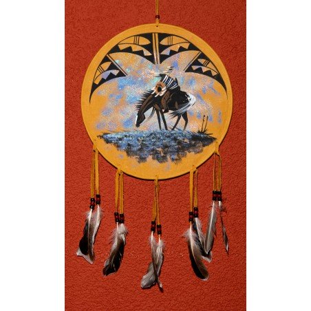 Mandala - End of Trail - Native American Art