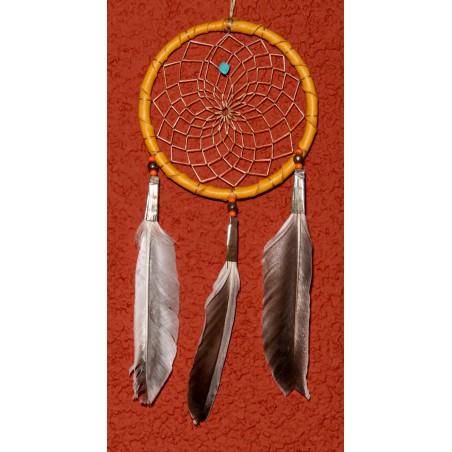 "4"" Naturel Authentic Dream Catcher - Native American Art"