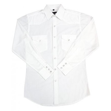 Western Shirt - Classic Solid Men - White Horse