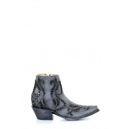 Urban Low Boots - Cowhide Grey Snip Toe - Corral Boots