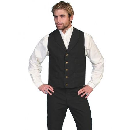 Old West Big Size Vest - Canvas Men - Scully