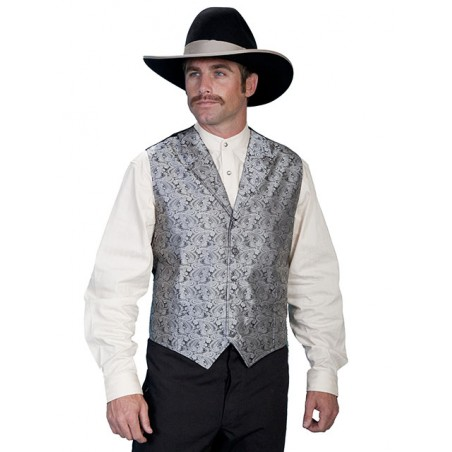 Classic Vest Big Size - Polyester Paisley Men - Scully