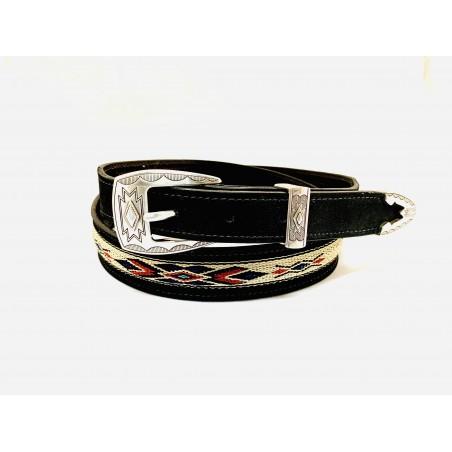 Belt - Cowhide Southwest Unisex - Texas Leather