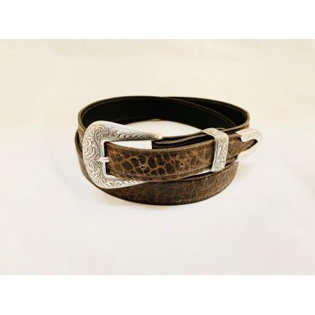Belt - Cowhide Croco Imitation Unisex - Texas Leather