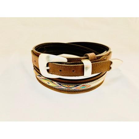 Ranger Belt - Cowhide Brown Southwest Unisex - Texas Leather