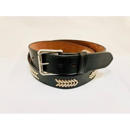 Belt - Cowhide Black Braided Unisex - Texas Leather