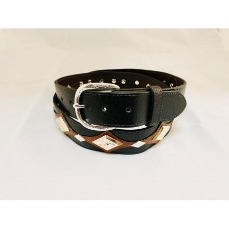 Belt - Cowhide Black Diamond Unisex - Texas Leather