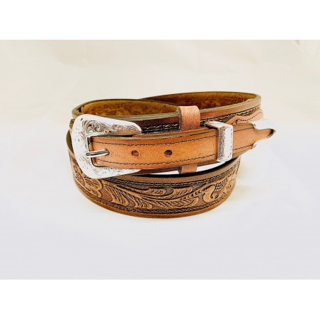 Ranger Belt - Cowhide Floral Unisex - Texas Leather