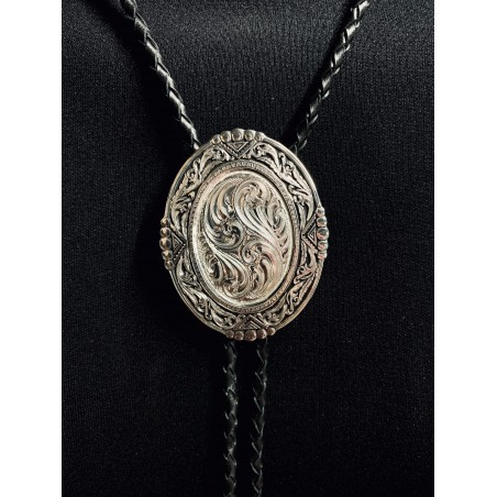 Bolo Tie - Southwestern Rancher in Antiqued Silver Unisex - Montana Silversmiths