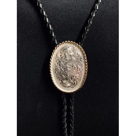 Bolo Tie - Engraved Silver Unisex - Montana Silversmiths
