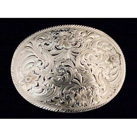 Western Buckle - Floral Engravings Unisex - Montana Silversmiths