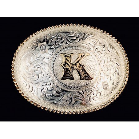 Western Buckle - Initial Letter - Montana Silversmiths