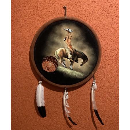 Mandala - Indian Skull Painting - Native American Art