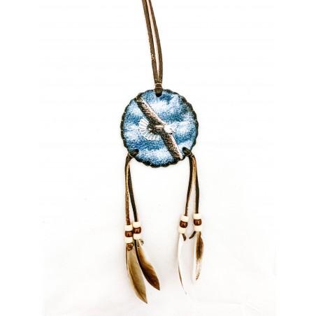 Small Mandala - Flying Bald Eagle - Native American Art