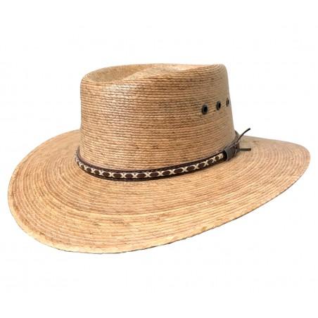 Bolero Hat - Straw Dipped Boater Shape Natural Unisex - Dallas Hats