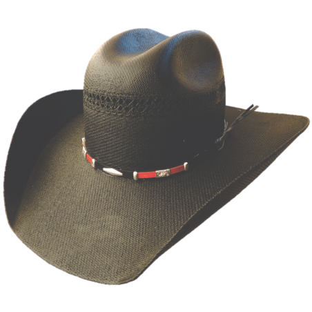 Cowboy Hat - Black Canvas Conchos Unisex - Dallas Hats