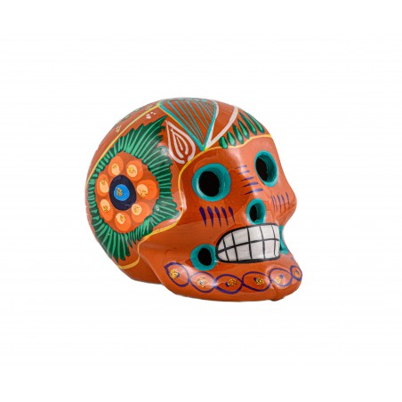 Decoration - Orange Calavera - El Paso Trading Post