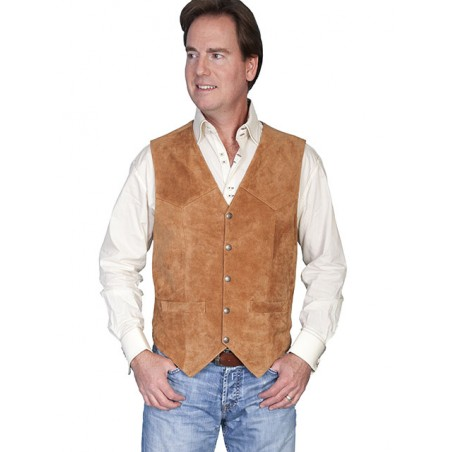 Vest - Suede Leather Men - Scully