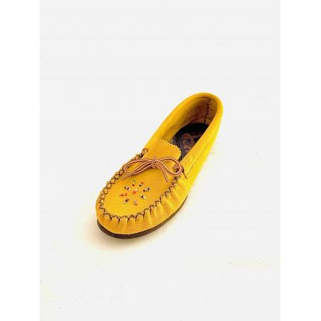 Moccasins - Huron Suede Leather Women - Bastien Industries
