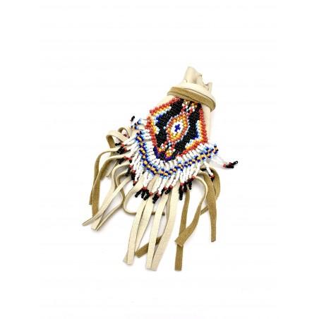 Authentique Sac Medicine perlé - Art Amérindien