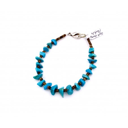 Bracelet - Authentic Natural Turquoise - Native American Art