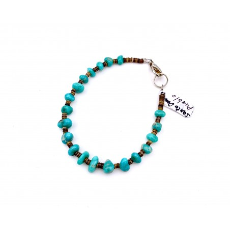 Bracelet - Authentic Turquoise Coral - Native American Art
