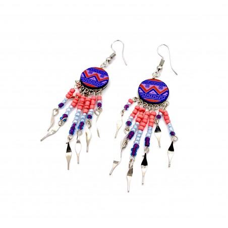 Earrings - Purple Southwest Mandala - El Paso